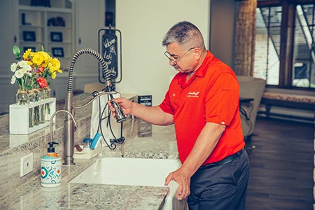 kitchen remodel plumbing - gas and water